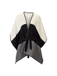 tonal-colour-block-belted-cape