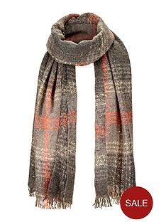 colour-pop-bobble-check-blanket-scarf