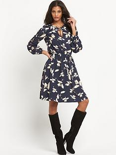 oasis-printed-tunic-dress-with-tie-waist