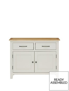 luxe-collection-chelsea-ready-assembled-compact-grey-sideboard-with-oak-top