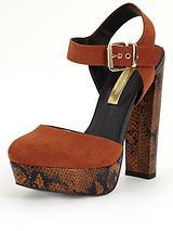 70s Snake Print Platform Shoes