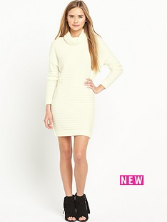 miss-selfridge-funnel-neck-ottoman-dress
