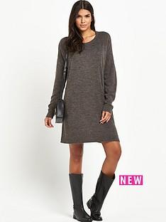 vila-virivanbsplong-sleeved-knitted-dressnbsp