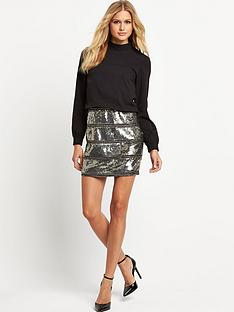 vila-vila-vilanoirnbspdress-with-sequin-skirt