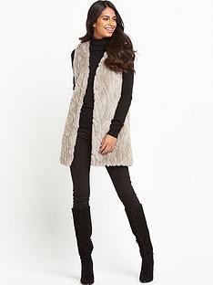 vila-viparla-long-faux-fur-waistcoat