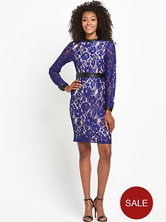 definitions-pu-collar-lace-dress