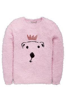 freespirit-girls-sequin-polar-bear-eyelash-jumper