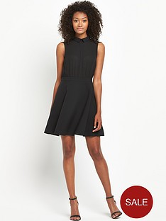 south-collared-chiffon-skater-dress