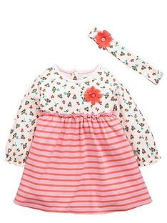 ladybird-baby-girls-stripe-and-floral-dress-with-headband-set-2-piece