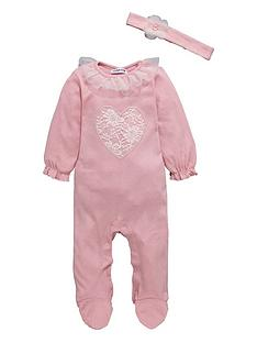 ladybird-baby-girls-sleepsuit-and-headband-set-2-piece