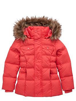 Name It Girls FauxFur Hooded Down Filled Jacket