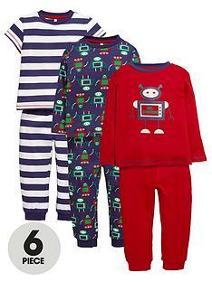 ladybird-ladybird-boys-robot-pyjamas-6-piece