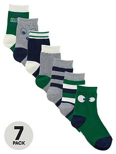 ladybird-boys-stripe-and-face-socks-7-pack