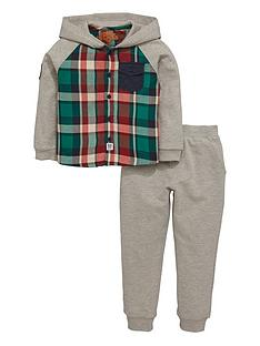 ladybird-boys-check-hoodie-and-joggers-set-2-piece