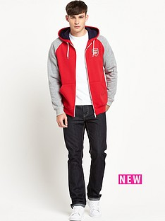 arsenal-raglan-zip-through-hoody