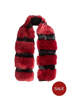 stripe-faux-fur-collarnbsp