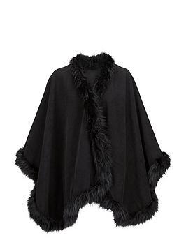 premium-cape-with-faux-fur-trim