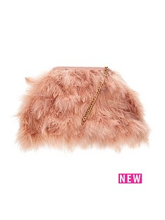 fluffy-feather-shoulderclutch-bagnbsp