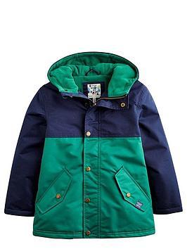 Joules Boys Waterproof Colourblock Coat