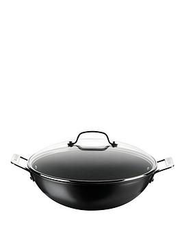 circulon-34cm-wok-with-glass-lid