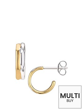 links-of-london-bi-metal-mini-hoop-earring-silvergoldnbspadd-item-lxv4l-to-basket-to-receive-free-bracelet-with-purchase-for-limited-time-only