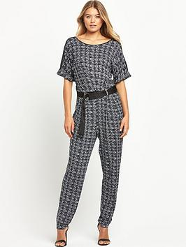 South Petite Printed Casual D Ring Jumpsuit