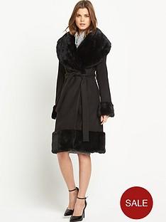south-faux-fur-hem-wrap-coat