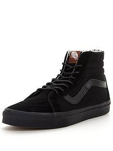 vans-sk8-hi-reissue-plimsolls-trainers-black