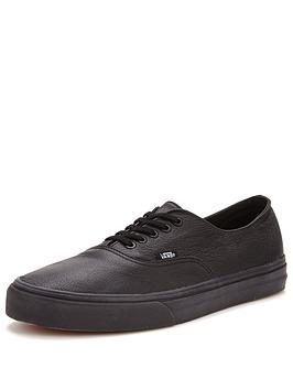 Vans Authentic Decon Leather Trainers - Black