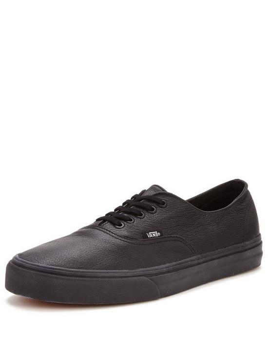 e8ca537918 Vans Authentic Decon Leather Trainers - Black   very.co.uk