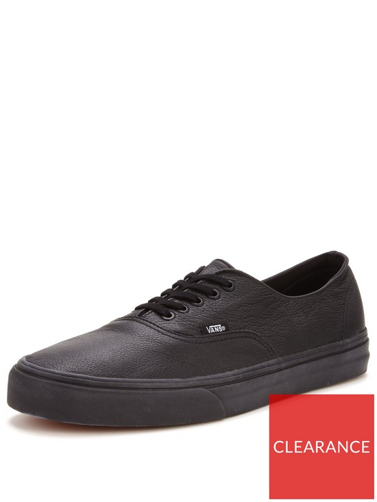 9aabc767b6f Vans Authentic Decon Leather Trainers - Black