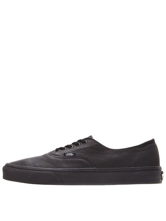 653dd37e9a ... Vans Authentic Decon Leather Trainers - Black. View larger
