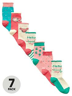 ladybird-girls-colourful-ankle-socks-7-pack