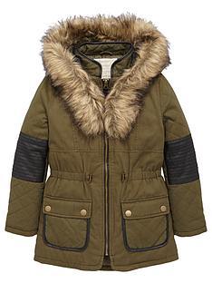 freespirit-girls-pu-panel-parka-with-faux-fur-hood