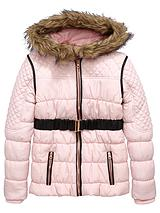 Girls Belted Quilted Jacket