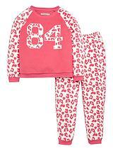 Girls Varsity LeopardTwosiePyjamas