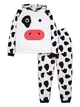 Girls Cow Peekabo Twosie
