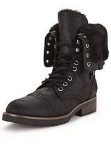 Roley Fold Down Faux Fur Boot
