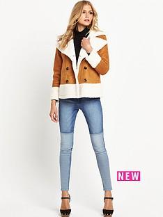 south-faux-sheepskin-double-breasted-coatnbsp