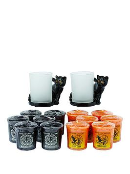 yankee-candle-2-x-cat-votive-holders-with-12-votives-6-x-witches-brew-6-x-candy-corn