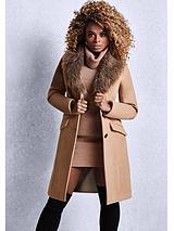 By Fleur East Faux Fur Stole Coat