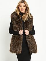 Longline Faux Fur Gilet