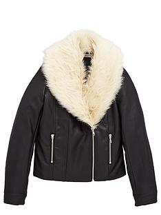 freespirit-girls-pu-biker-jacket-with-fauxnbspfur-collar