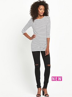 south-petite-crew-neck-34-sleeve-stripe-top