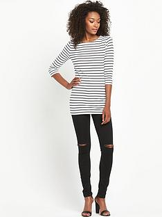 south-tall-crew-neck-34-sleeve-stripe-topnbsp