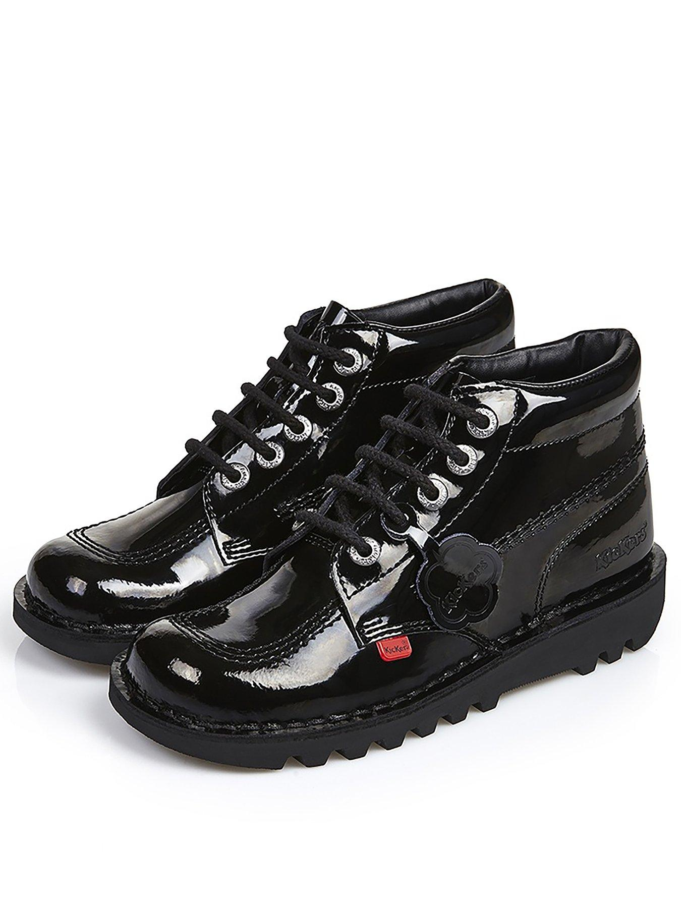 6 to 11 Black Kickers Mens Kick Hi M Core Leather Formal Boots Laced Shoes