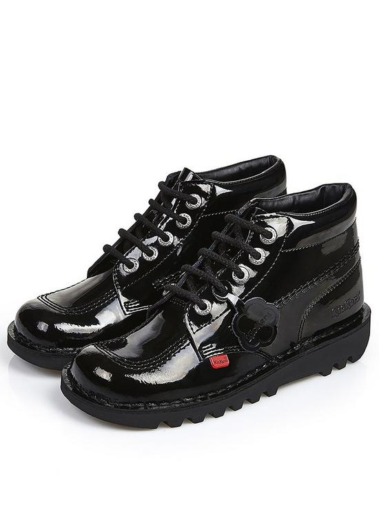 Kickers Girls Kick Hi Patent School Shoes   very.co.uk