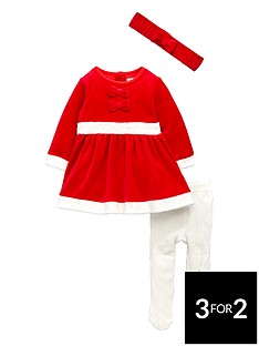 ladybird-baby-girls-mother-christmas-dress-tights-and-headband-set-3-piece