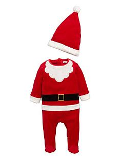 ladybird-baby-boys-father-christmas-romper-and-hat-set-2-piece