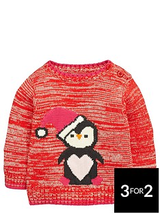 ladybird-baby-girls-novelty-knitted-penguin-jumper